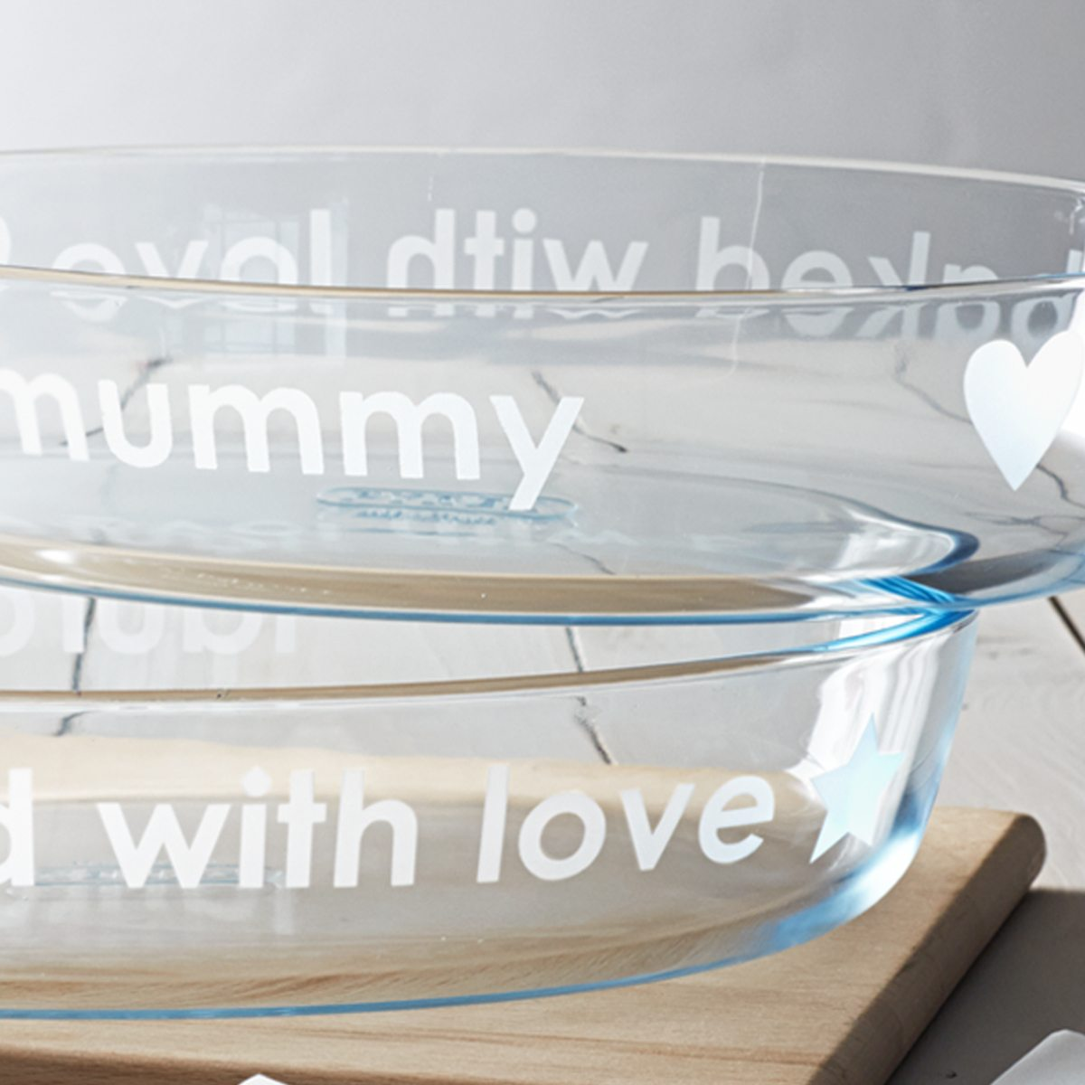 Personalised 'Baked With Love' Pyrex Dish
