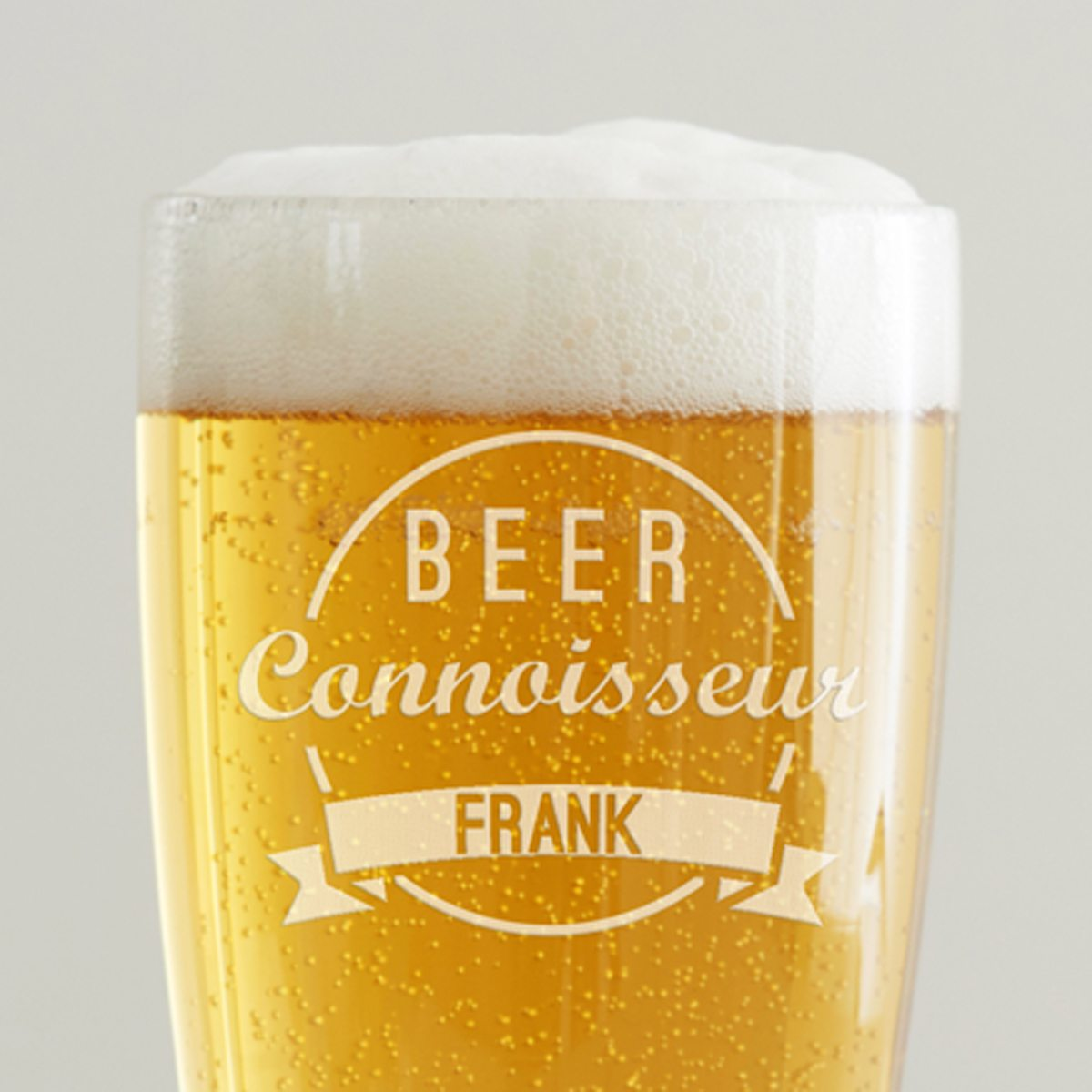 Personalised 'Beer Connoisseur' Pint Glass