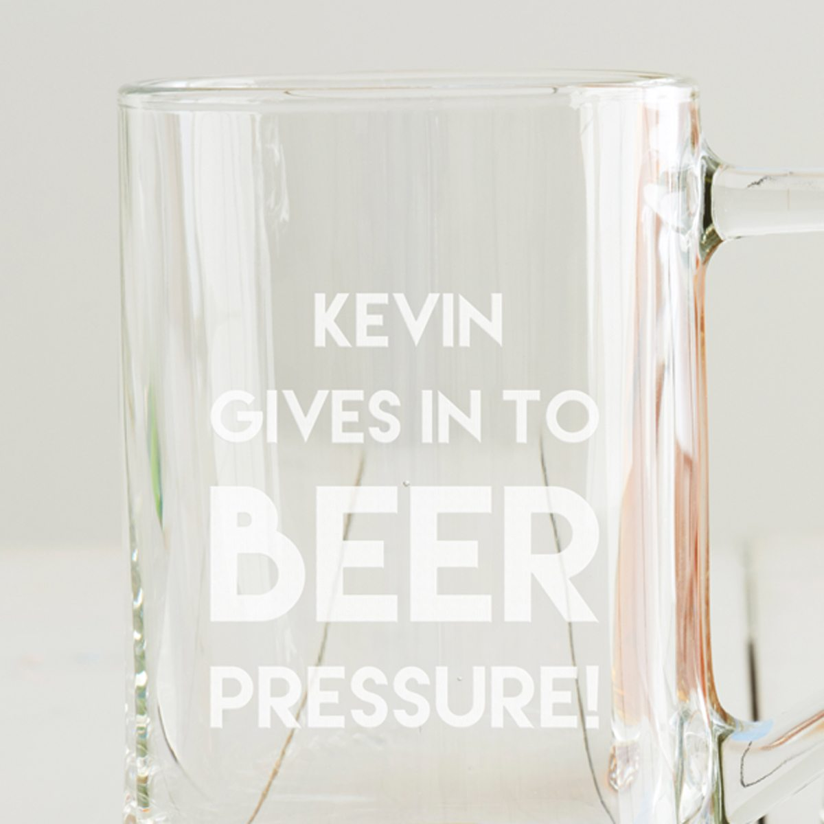 Personalised 'Beer Pressure' Tankard