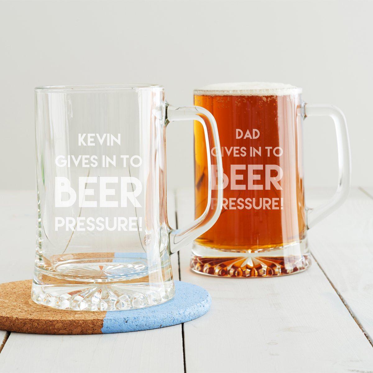 Personalised 'Beer Pressure' Tankard