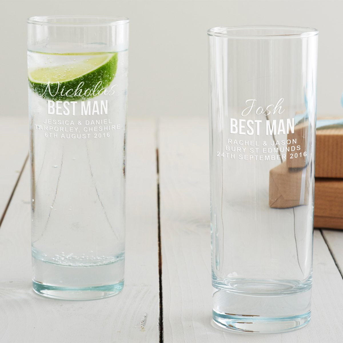 Personalised Best Man Hi Ball Glass