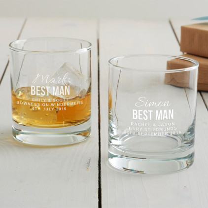 Personalised Best Man Tumbler Glass