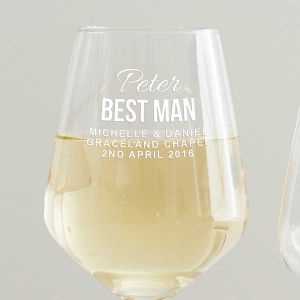 Personalised Best Man Wine Glass