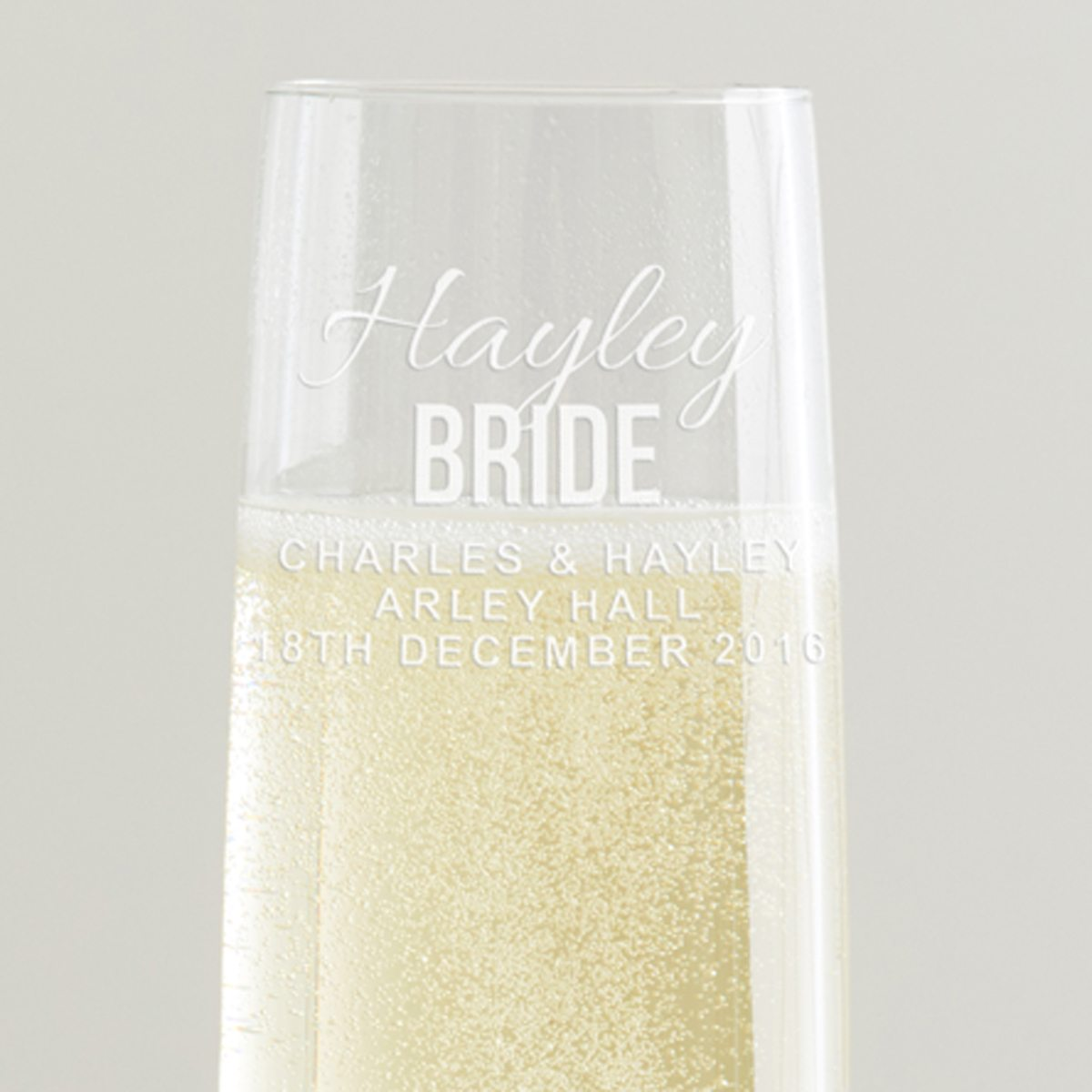 Personalised Bride Champagne Glass