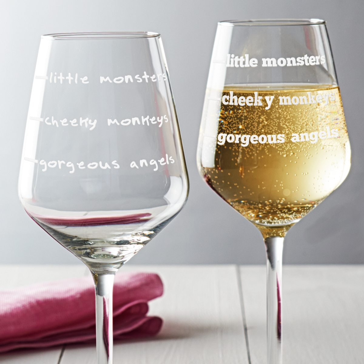 'Cheeky Monkeys' Wine Glass