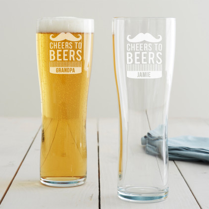 Personalised 'Cheers To Beers' Pint Glass