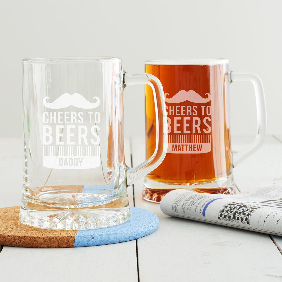 Personalised 'Cheers To Beers' Tankard