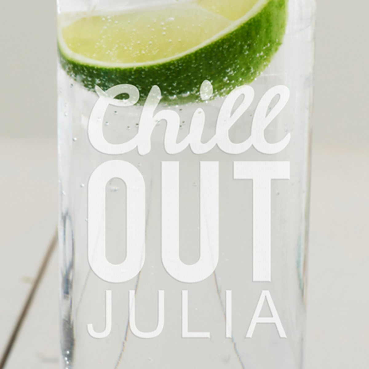 Personalised 'Chill Out' Hi Ball Glass