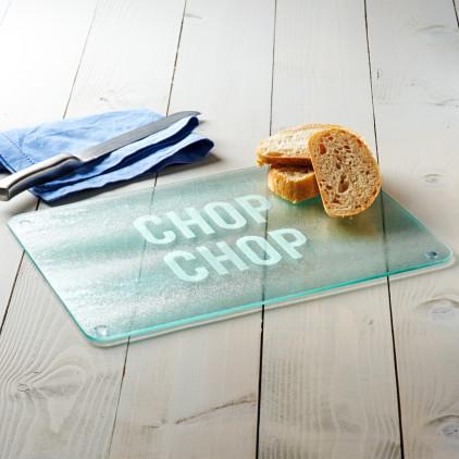 'Chop Chop' Glass Chopping Board