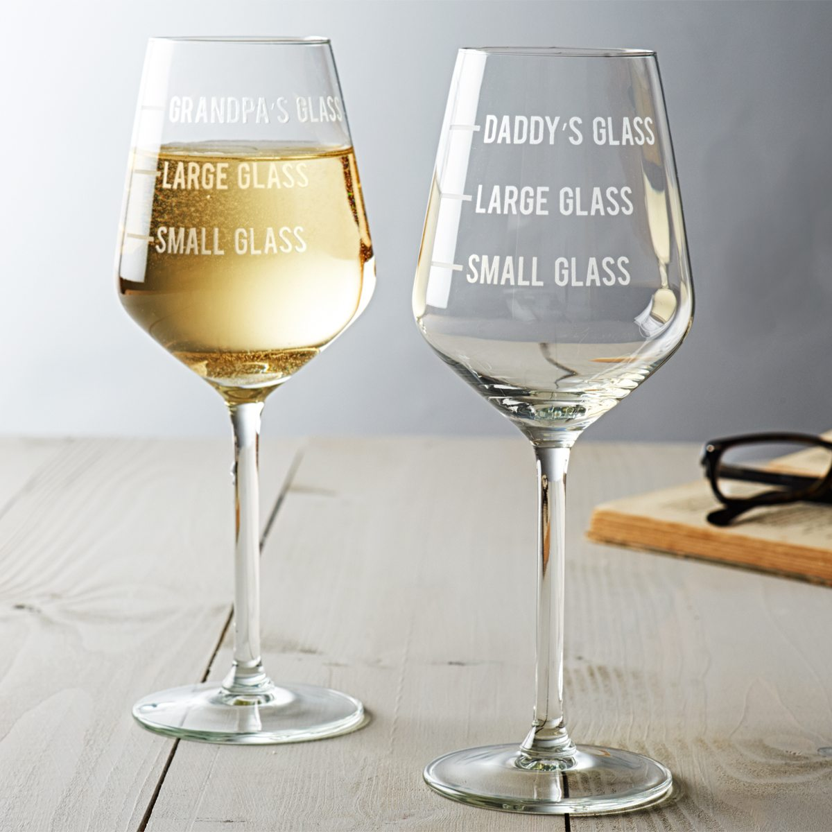 Dad's Measure Wine Glass