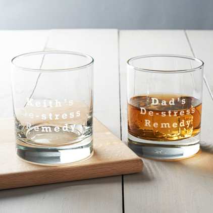 Personalised 'De Stress Remedy' Glass