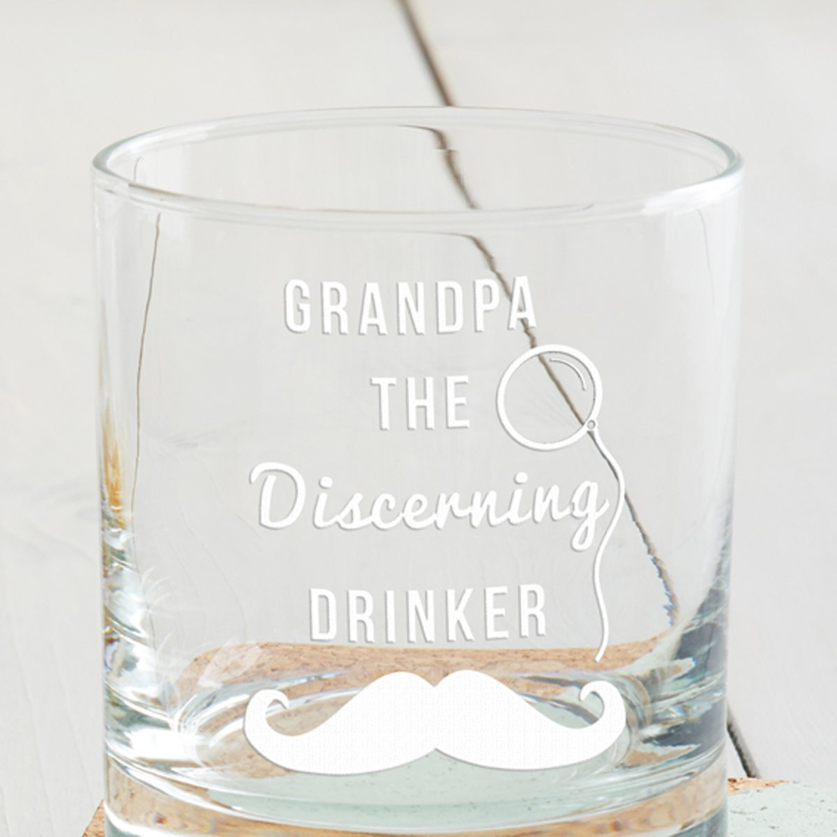 Personalised 'Discerning Drinker' Tumbler Glass
