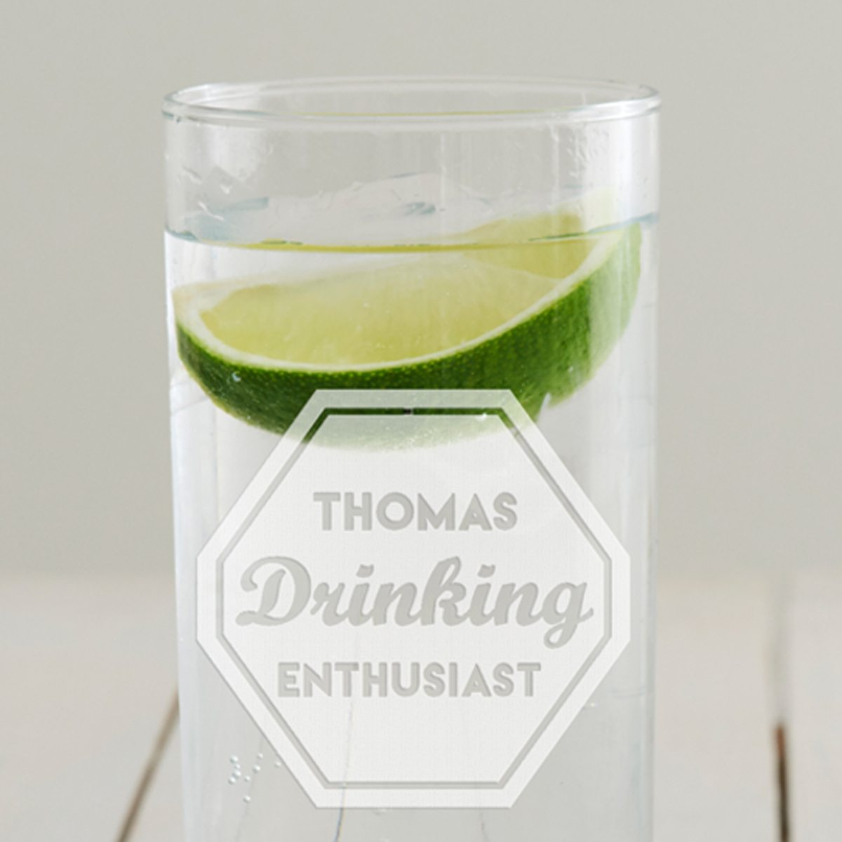 Personalised 'Drinking Enthusiast' Hi Ball Glass