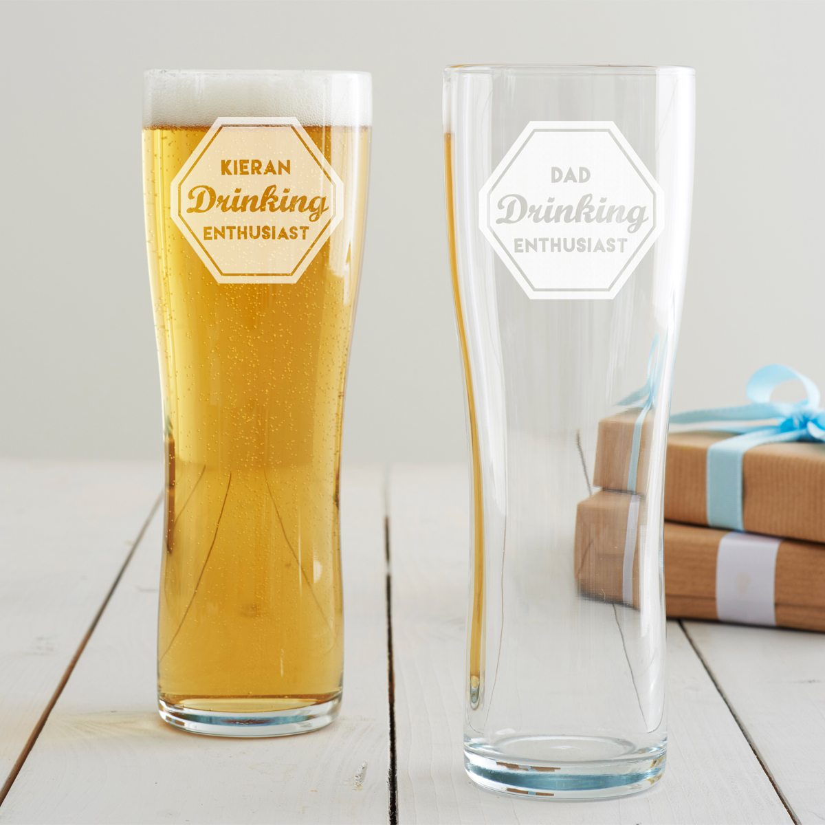 Personalised 'Drinking Enthusiast' Pint Glass