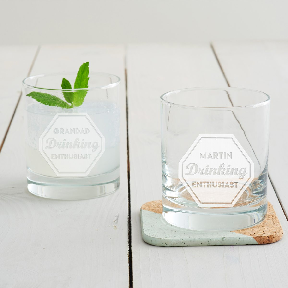 Personalised 'Drinking Enthusiast' Tumbler Glass