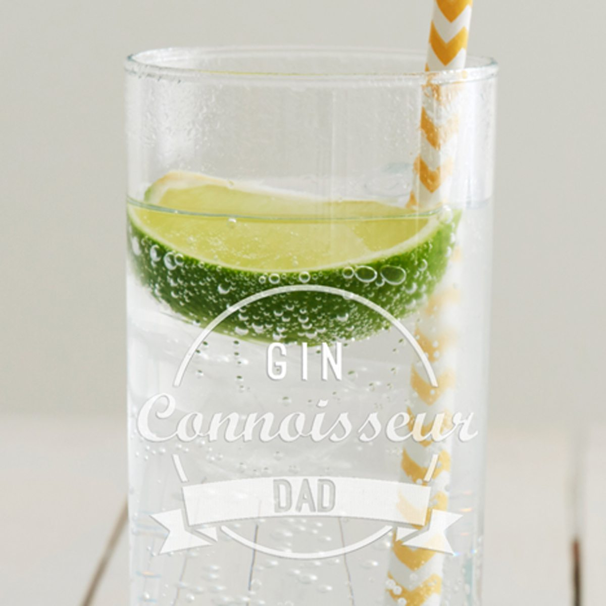 Personalised 'Drinks Connoisseur' Hi Ball Glass
