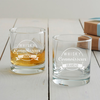 Personalised 'Drinks Connoisseur' Tumbler Glass