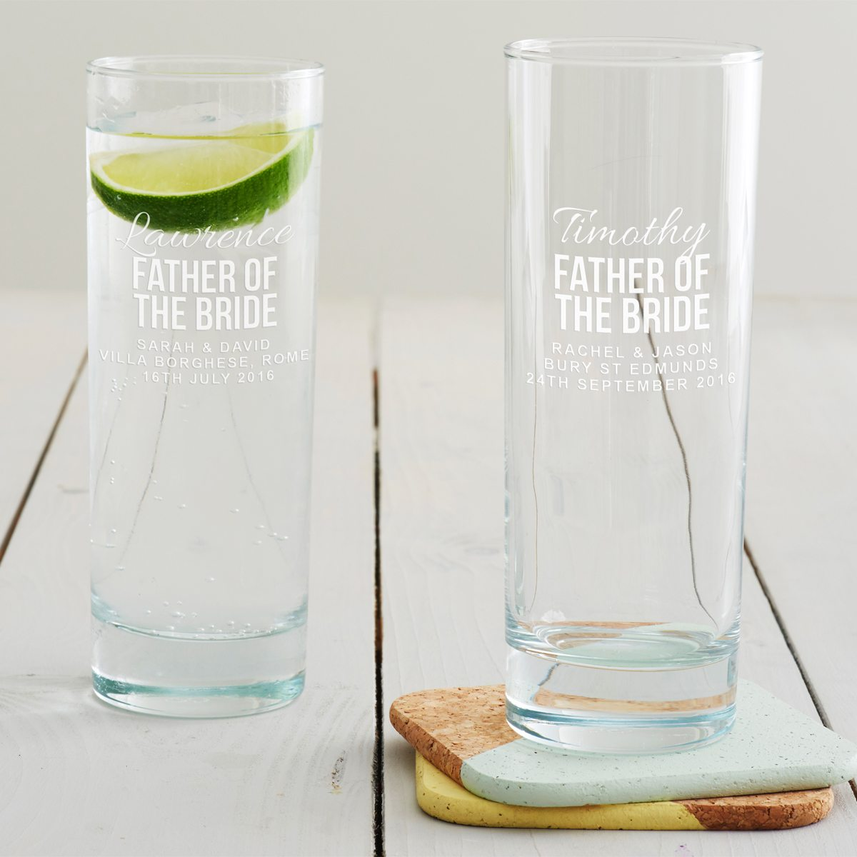 Personalised Father Of The Bride Hi Ball Glass