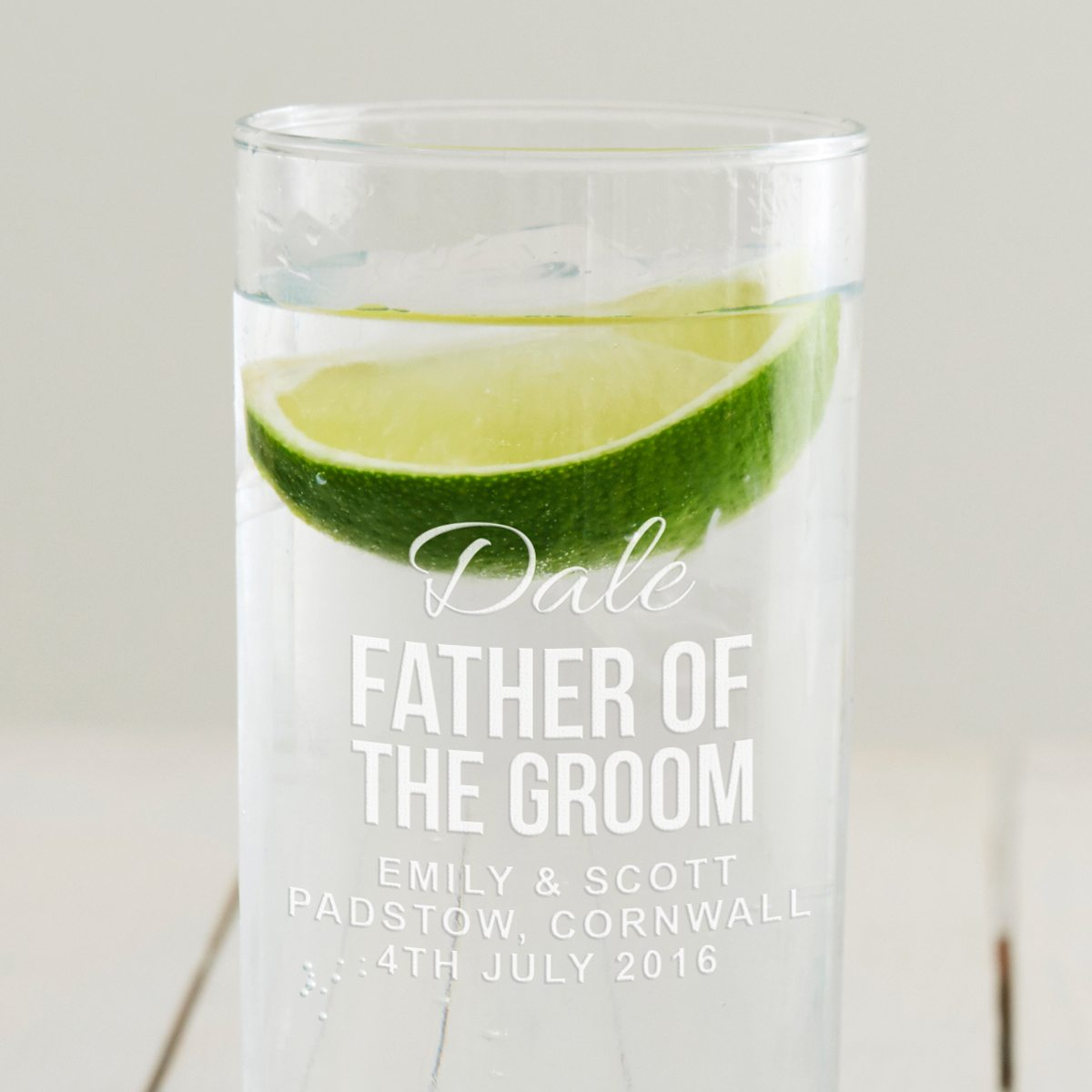 Personalised Father Of The Groom Hi Ball Glass
