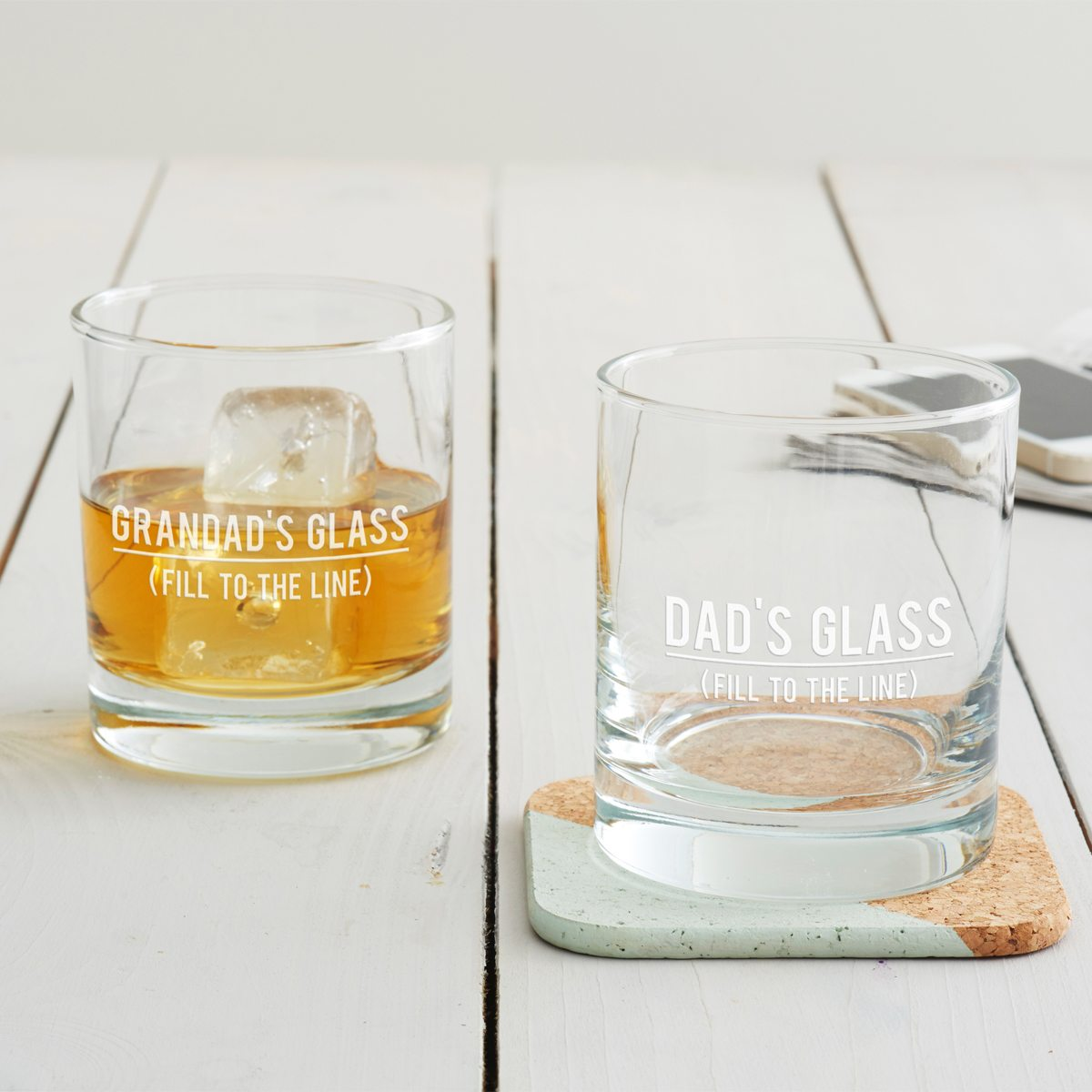 Personalised 'Fill To The Line' Tumbler Glass