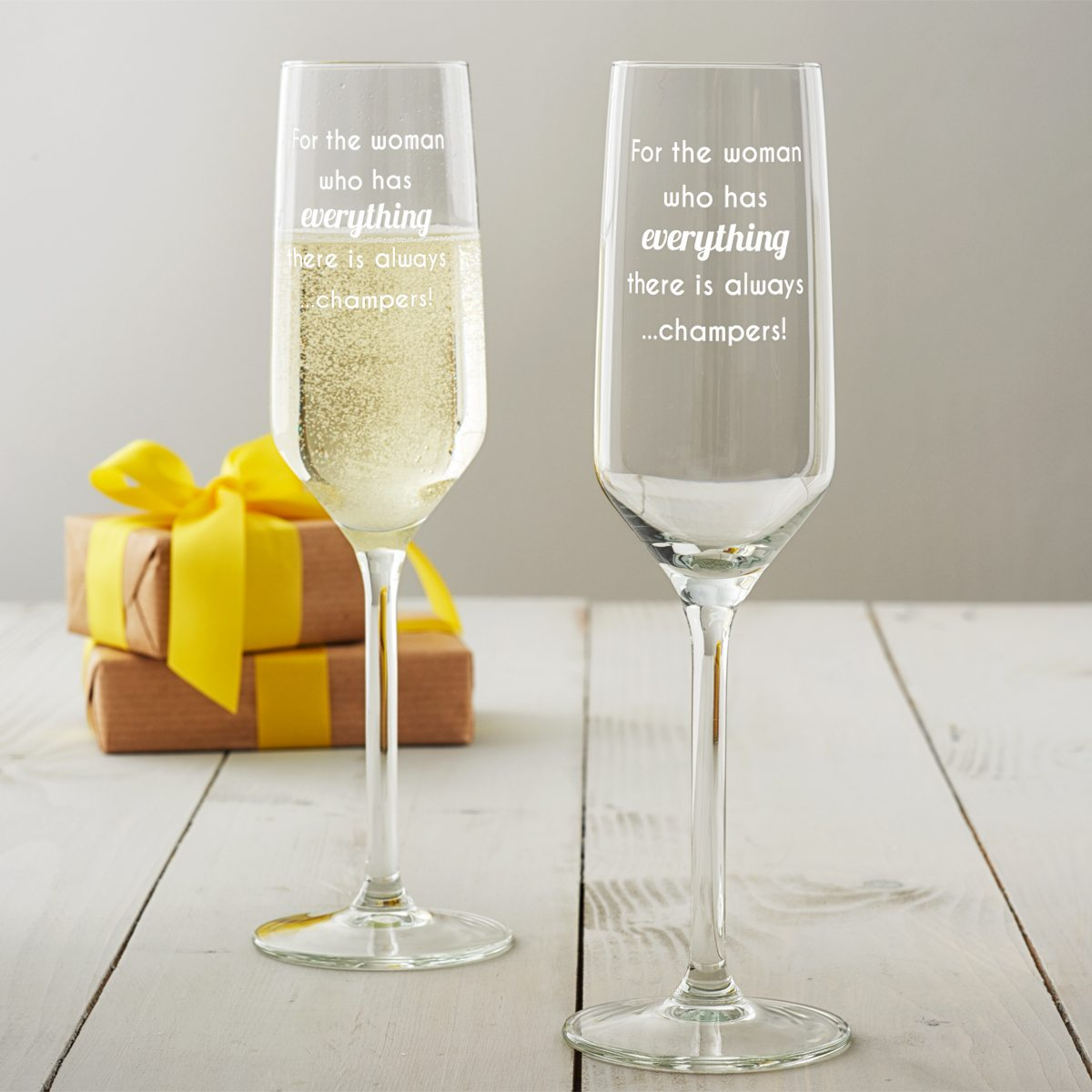 'For The Woman Who Has Everything' Champagne Flute
