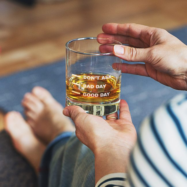 Good Day Bad Day' Measures Whisky Glass Lifestyle