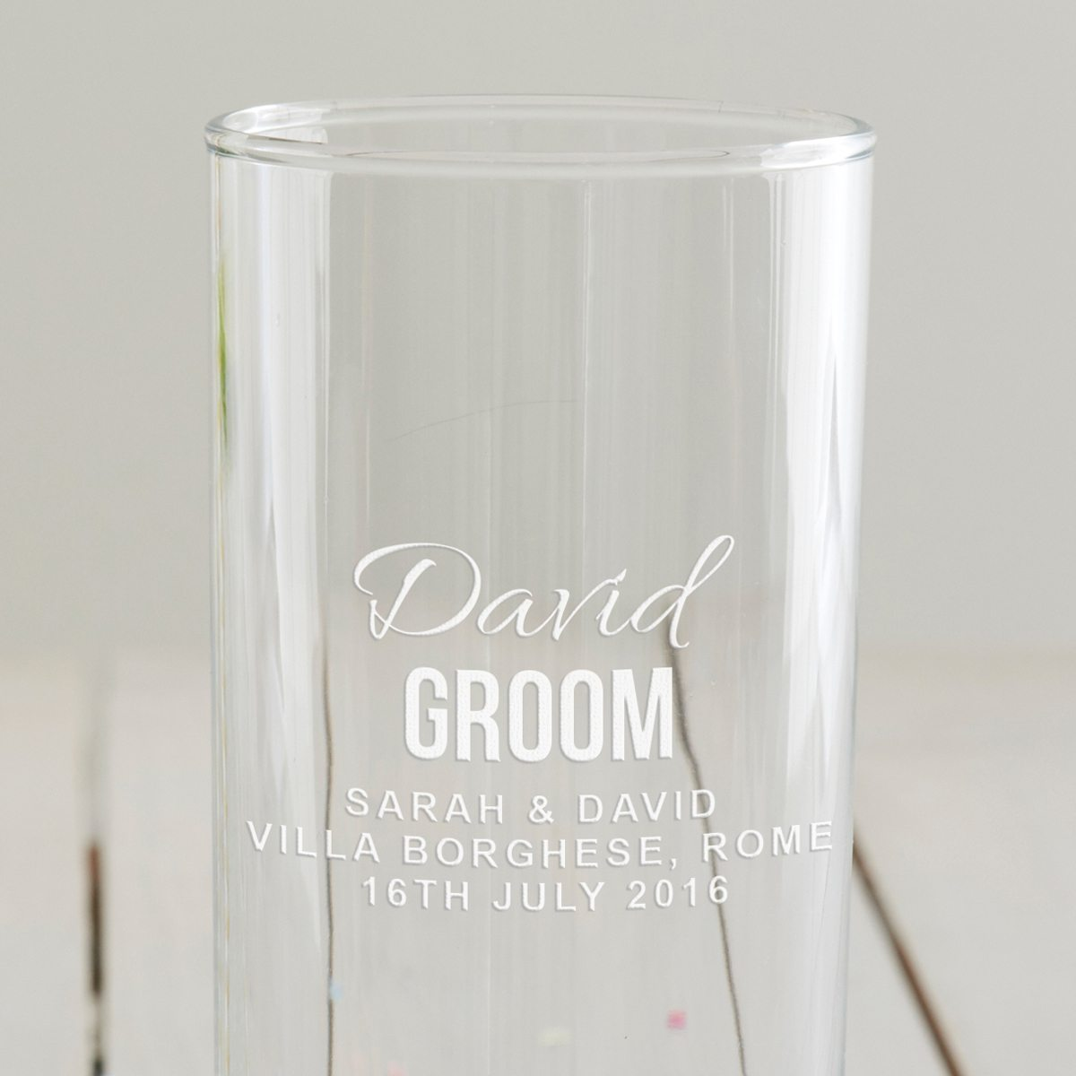 Personalised Groom Hi Ball Glass