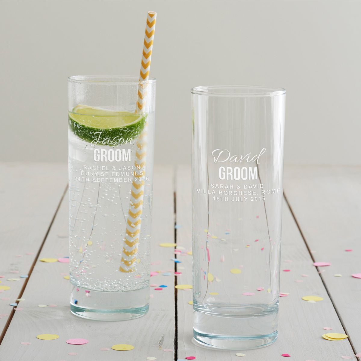 Personalised Groom Hi Ball Glass