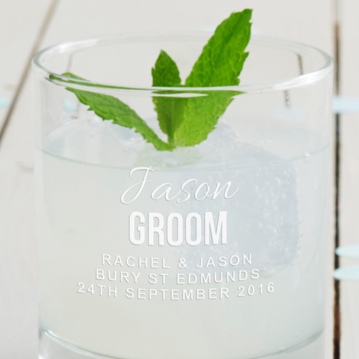 Personalised Father Of The Groom Tumbler Glass