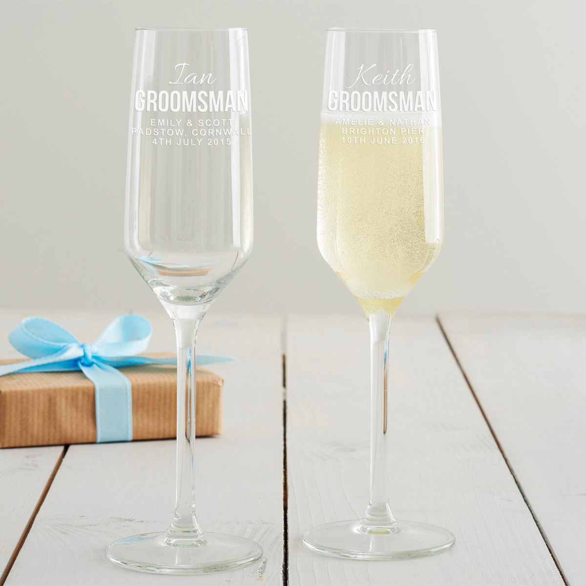 Personalised Groomsman Champagne Flute