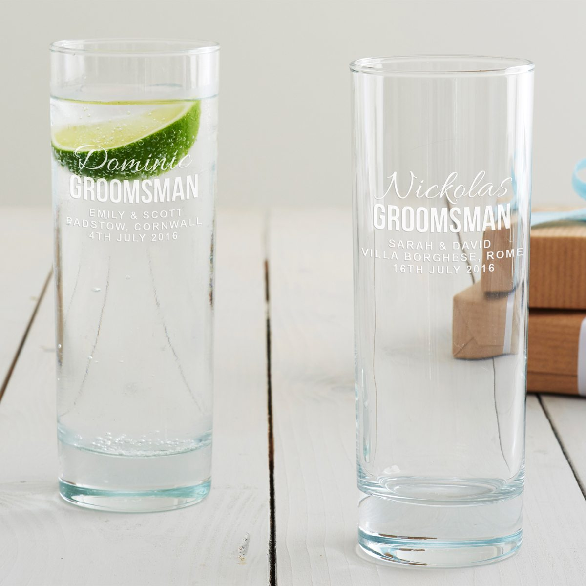 Personalised Groomsman Hi Ball Glass
