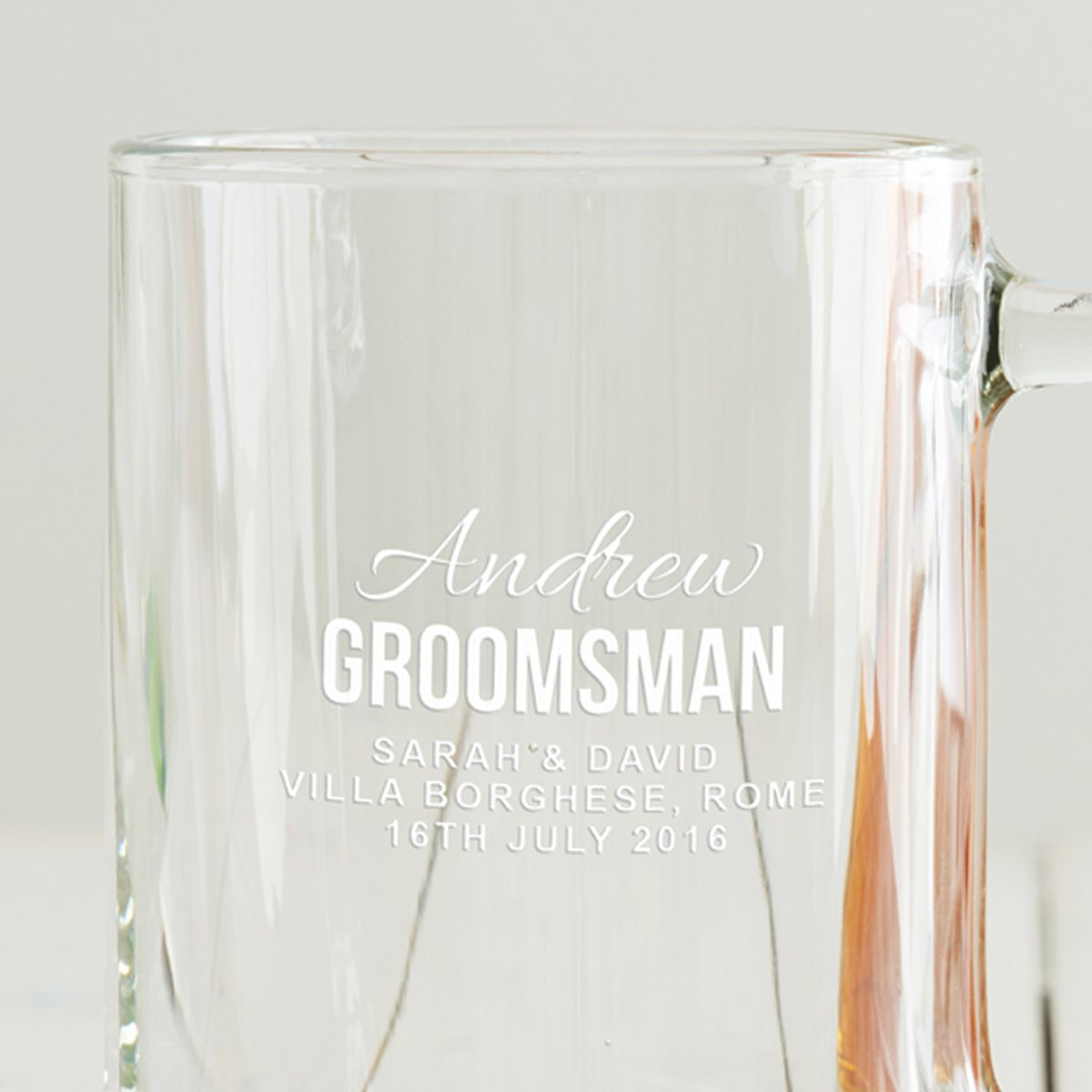 Personalised Groomsman Tankard