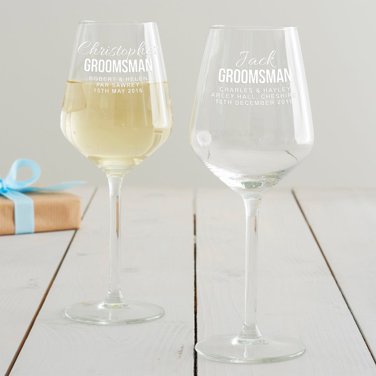 Personalised Groomsman Wine Glass