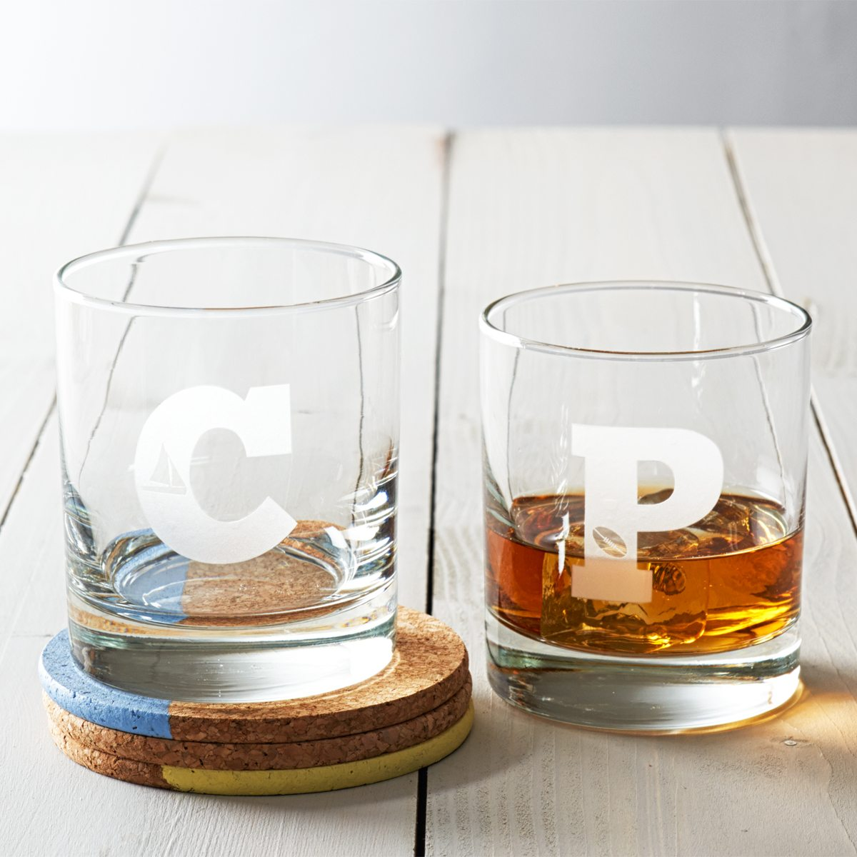 Personalised Hobby Initial Whisky Glass