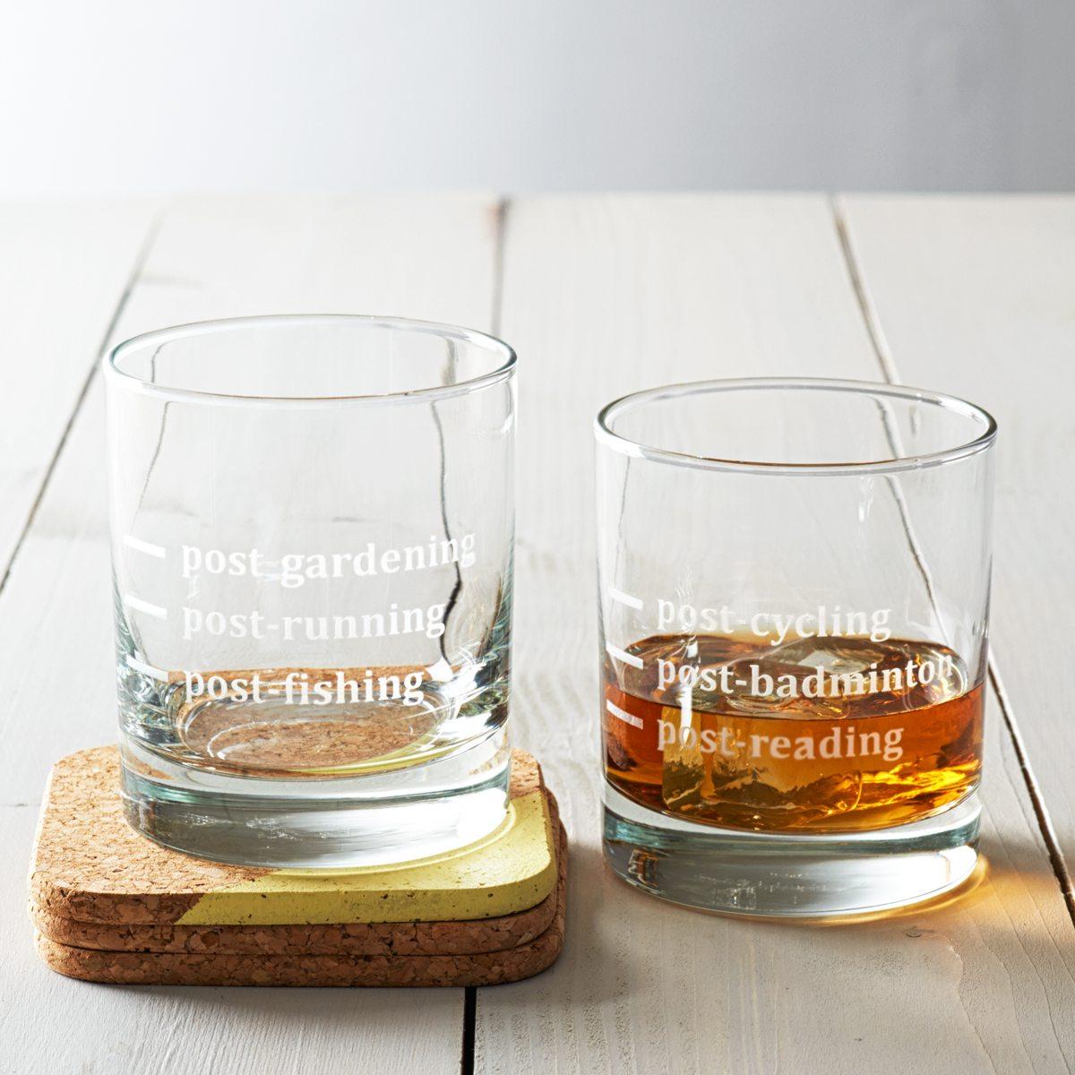 Personalised Hobbies Tumbler Glass