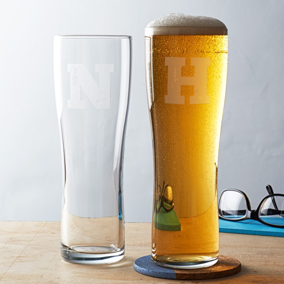 Personalised Hobby Monogram Pint Glass