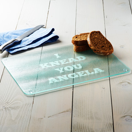 Personalised 'I Knead You' Bread Board