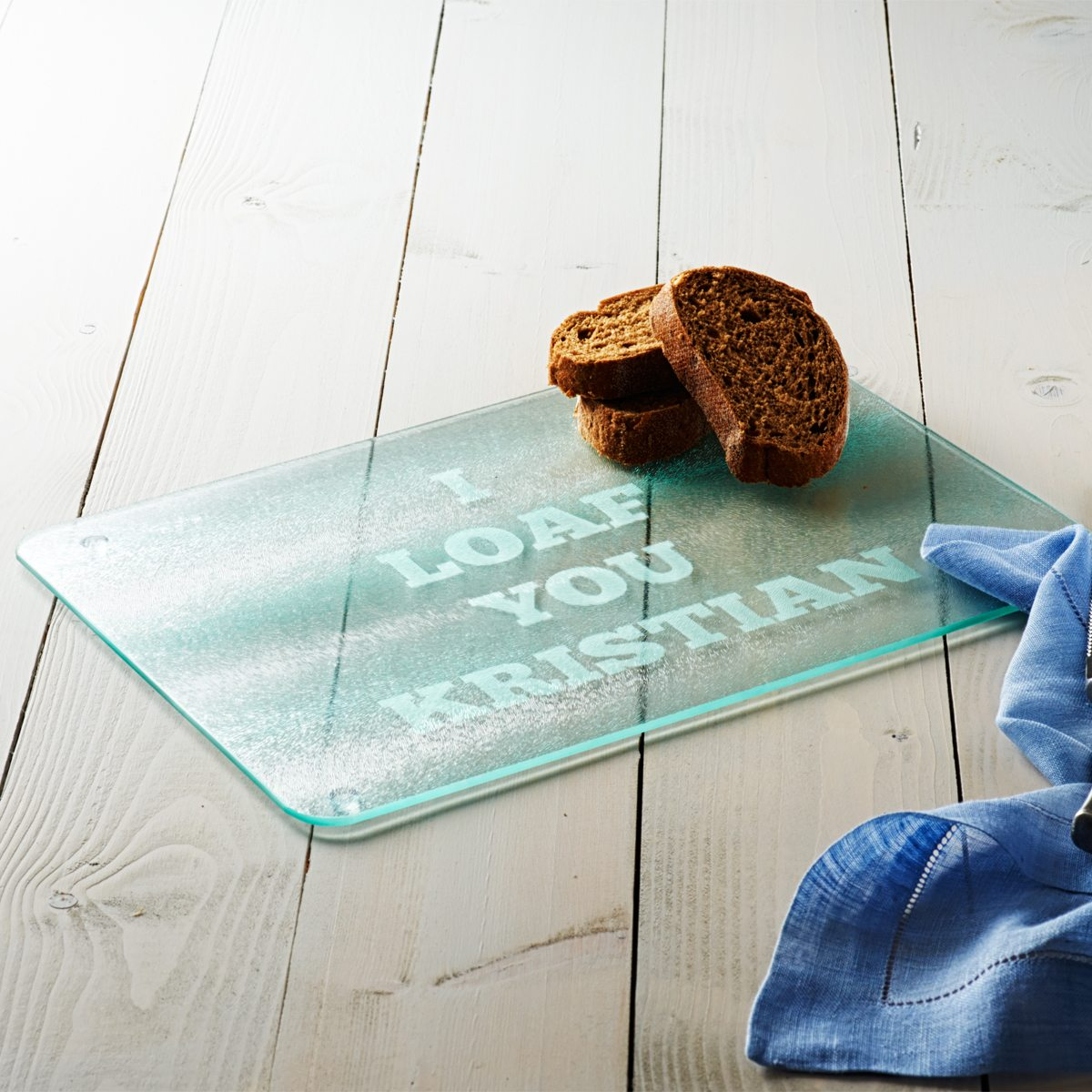 Personalised 'I Loaf You' Bread Board