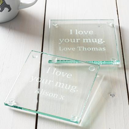 Personalised 'I Love Your Mug' Coaster