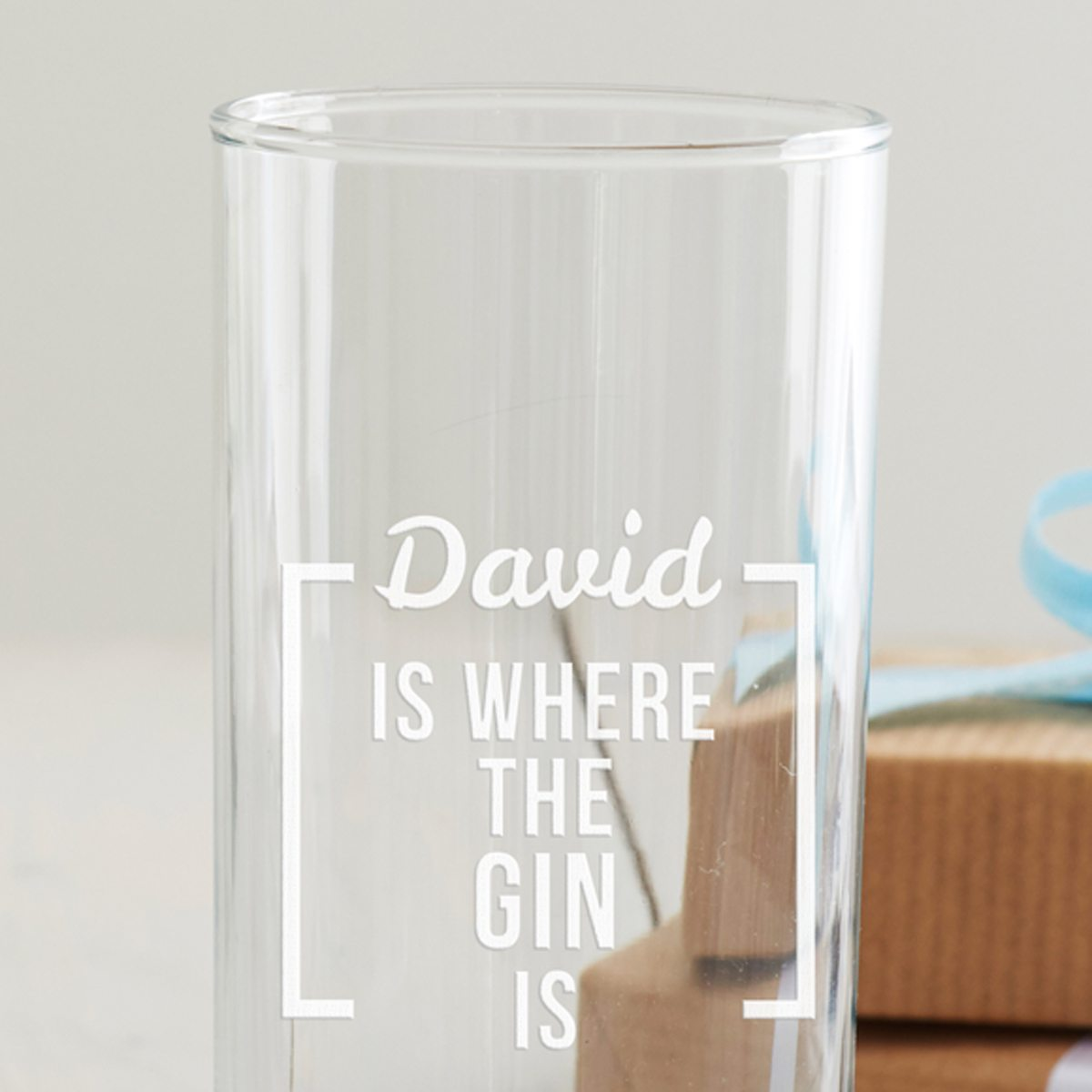 Personalised 'Is Where The … Is' Hi Ball Glass
