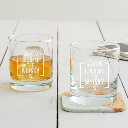 Personalised 'Is Where The … Is' Tumbler Glass