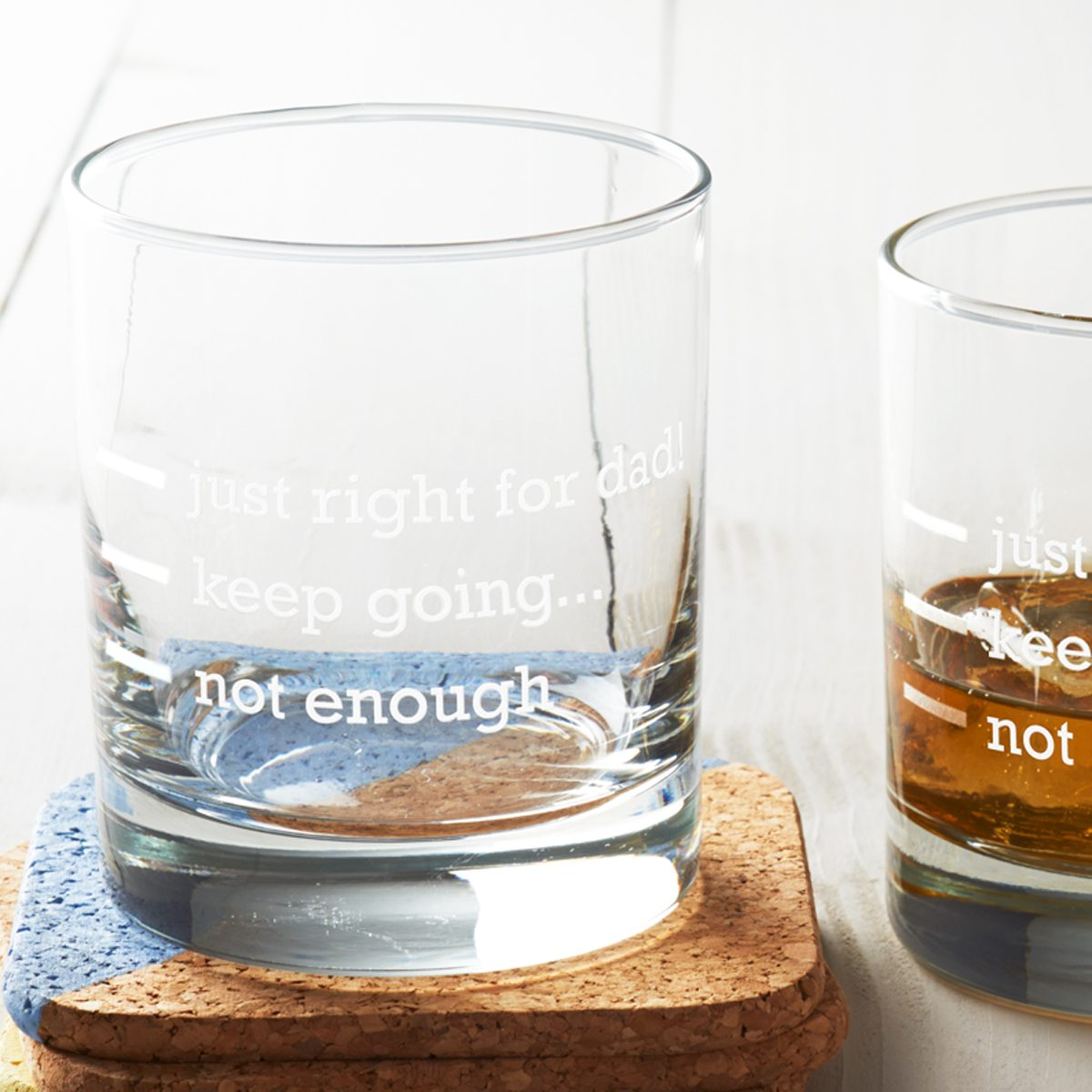 'Just Right For Dad' Measures Glass