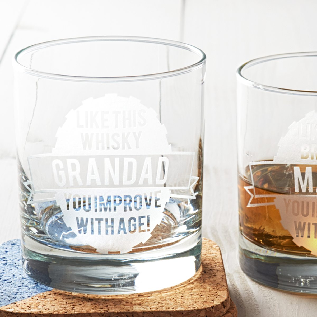 Personalised 'Like This' Glass