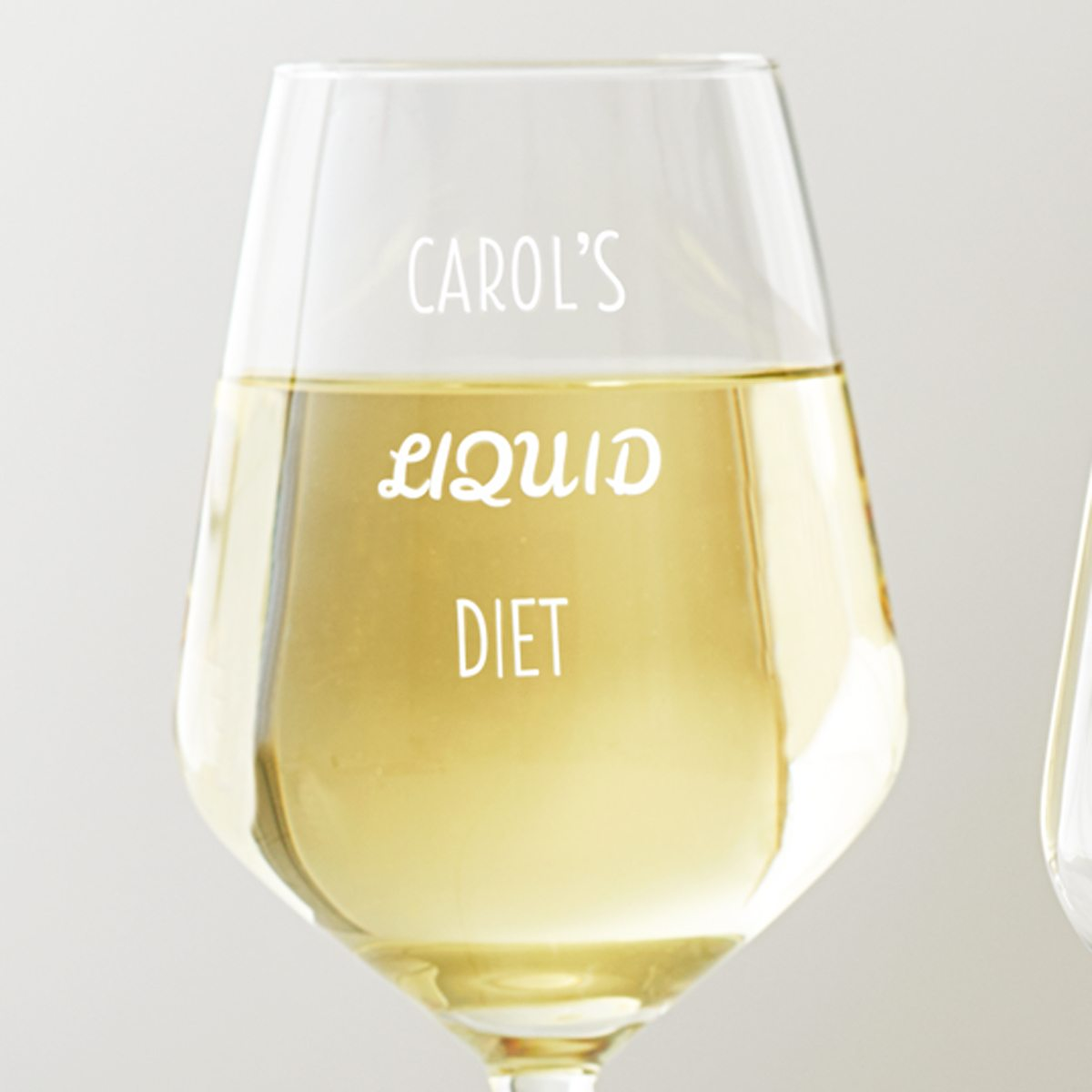 Personalised 'Liquid Diet' Wine Glass