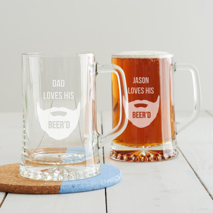 Personalised 'Loves His Beer'd' Tankard