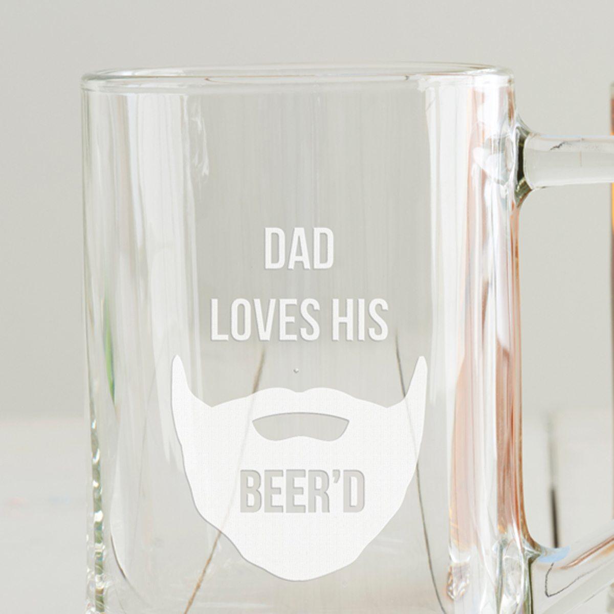 Personalised 'Loves His Beer'd' Tankard