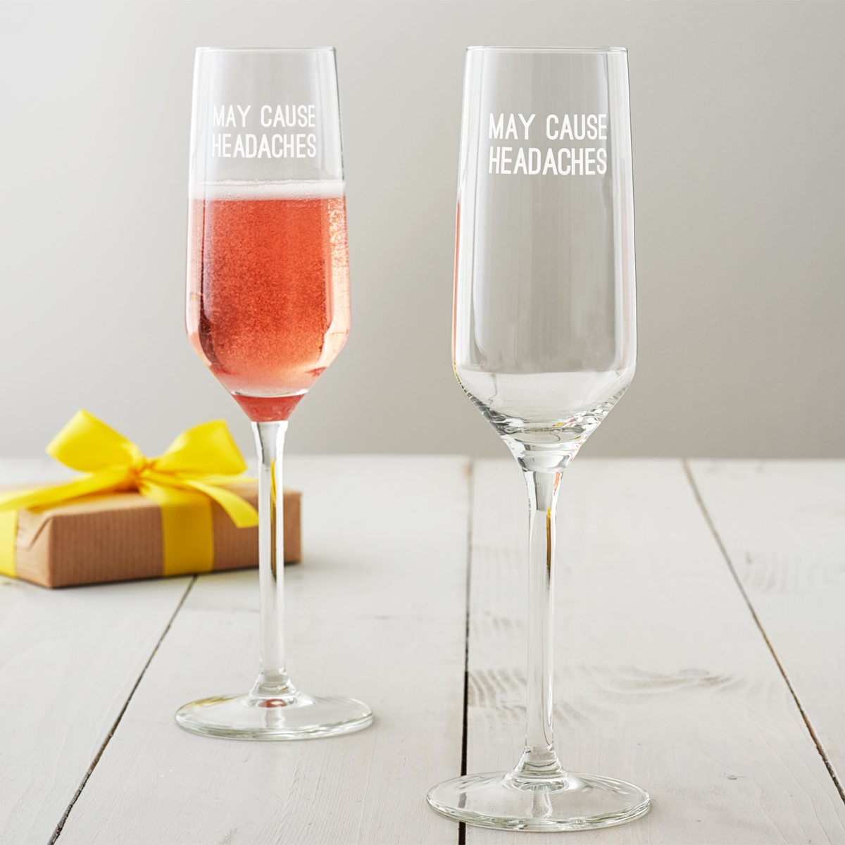 'May Cause Headaches' Champagne Flute