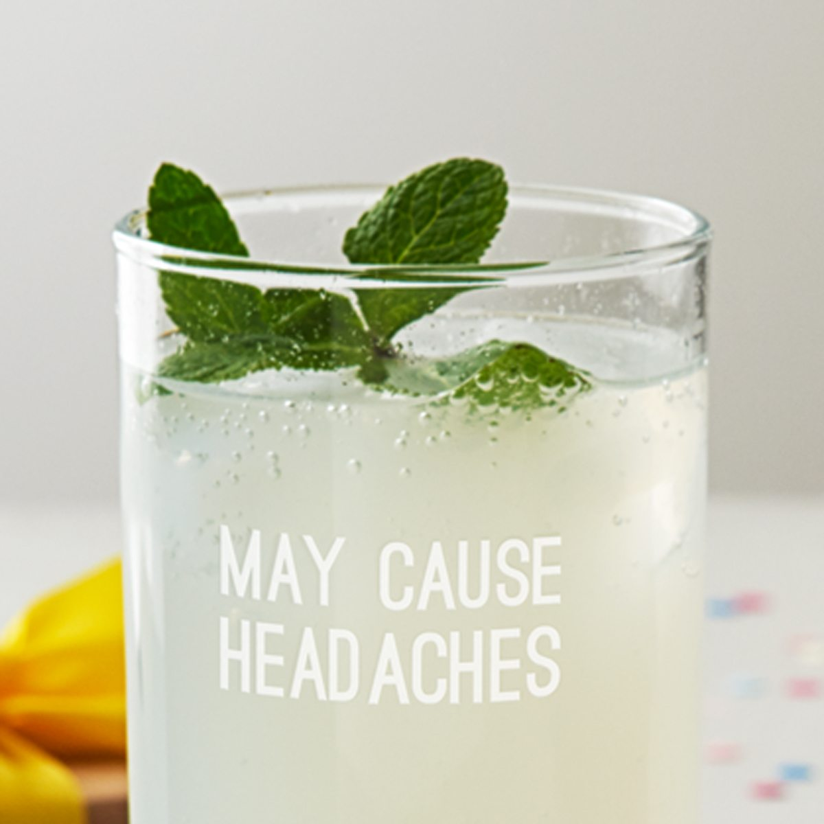 'May Cause Headaches' Hi Ball Glass