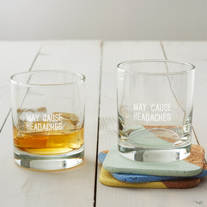'May Cause Headaches' Whisky Glass