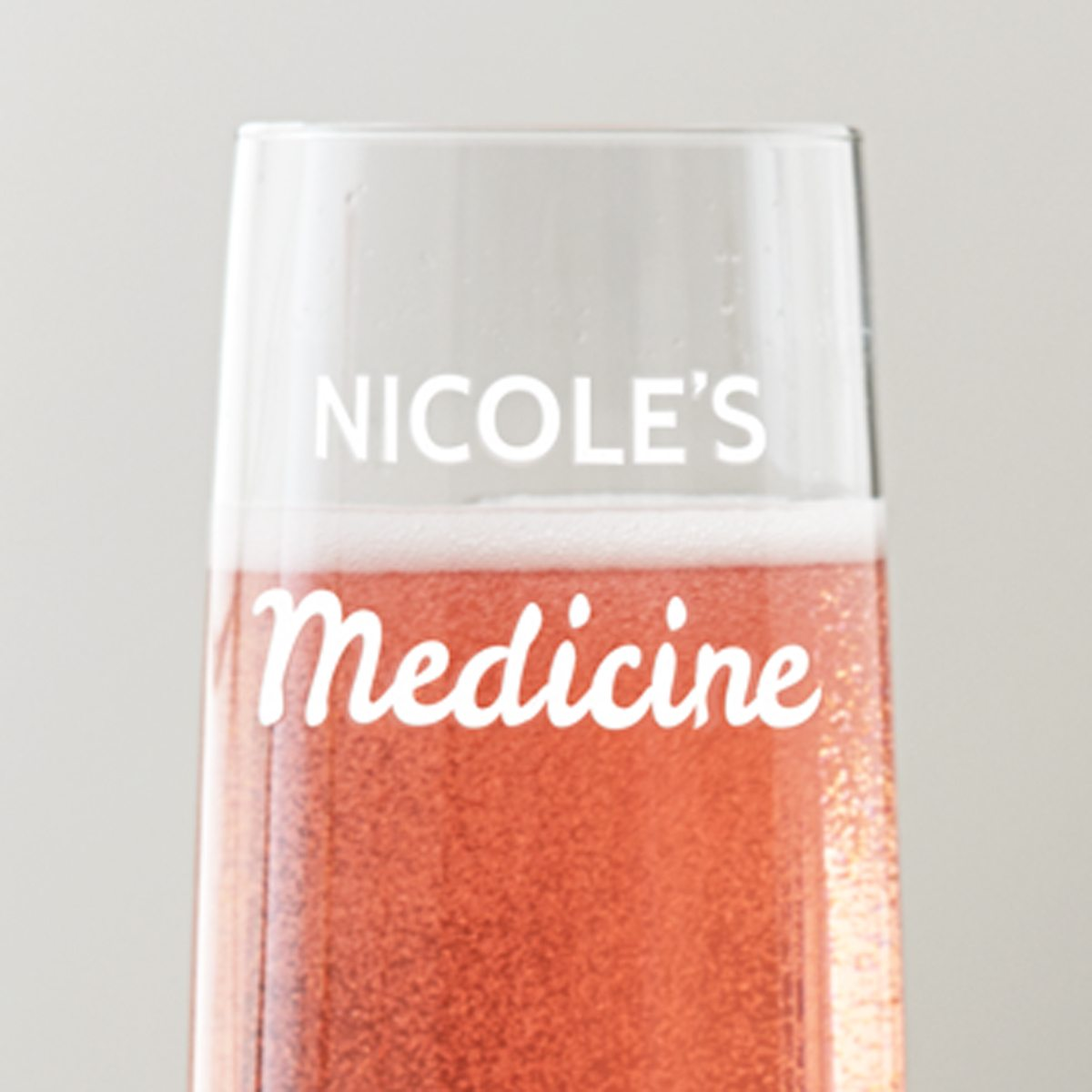 Personalised 'Medicine' Champagne Flute